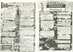 Arsenal Sommaire Poitiers #13, Newsletter mensuelle, Poitiers / Régions, AMP, Didier, PIer, Marie, Fabrice.