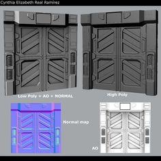 Sci-Fi Door by ElizabethReal