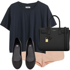 Untitled #7696 by alexsrogers on Polyvore featuring Madewell, T By Alexander Wang, H&M and Yves Saint Laurent