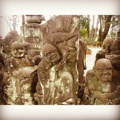 Luohan with fish. #kawagoe #temple #japantravel #ruins #cemetery #graveyard