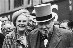 Winston Churchill Burial | Winston Churchill with his wife Clementine