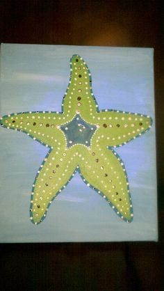 Starfish Painting - Love stress free evenings with wine!