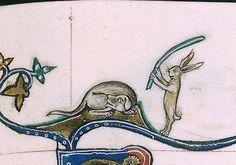 practical joke  Gorleston Psalter, England 14th century.  BL, Add 49622, fol.119r