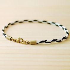 Chevron Bracelet in Black & White