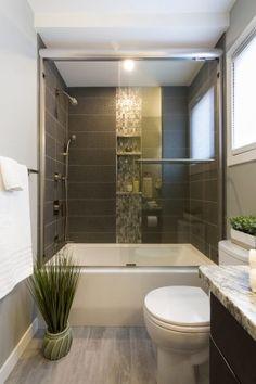Groveland Hers Bathroom - Hammerdown Construction - Winnipeg Bathroom Renovations Bathroom Renovations, Home Renovation, Steam Spa, Infrared Sauna, Steam Showers Bathroom, Construction, Bathtubs, Stuff To Buy, Design