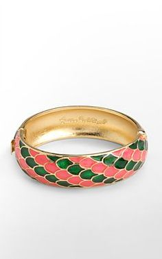 Pink and Green Coi Fish Bangle!!