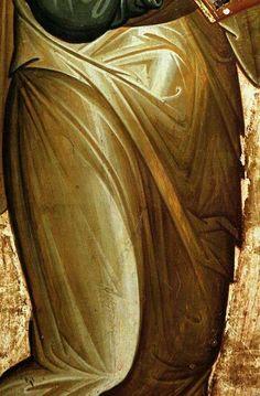 Garments on icons, standing figure Byzantine Icons, Byzantine Art, Religious Icons, Religious Art, Greek Mythology Art, Roman Mythology, Icon Clothing, Paint Icon, Face Icon