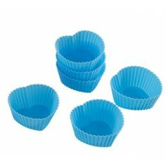 Silico Heart Shape Cake Mould Set (6 Cups) for offer sale online in India.