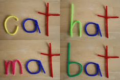 Multi-sensory sight word and spelling strategies: pipe cleaners.