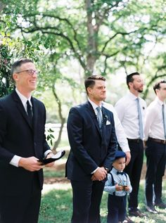 His face when he saw her.   #realwedding #love #groom