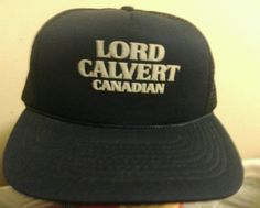 Lord Calvert Canadian Whiskey Vtg foam/meshTrucker SnapBack Cap Black or Blue
