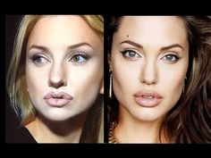Angelina Jolie make up experiment-tutorial by Aly - YouTube