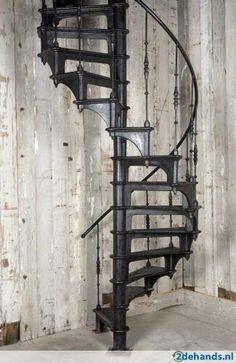 1000 images about gietijzer cast iron on pinterest for Houten wenteltrap