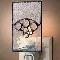 textured glass decorative night light