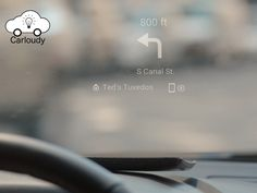 Carloudy is World's First E-Ink, Smart, Wireless Head Up Display for Every Car that Works Perfect Under Bright Sunlight and Evening.