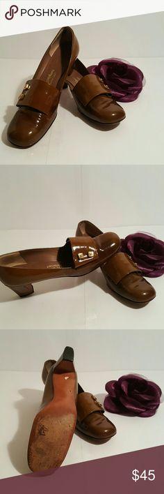 Saks Fifth Avenue Fenton Last shoes Carmel Brown classic shoes, normal wear. Still a great shoe. Saks Fifth Avenue Fenton Last  Shoes Flats & Loafers