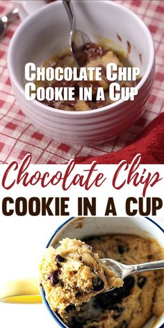 You are only a minute away from a decadent, delicious, chocolate chip mug cookie made start to finish in a cup and baked in the microwave!Get a warm cup-ful of chocolate chip cookie using this quick, Microwave Cookies, Microwave Mug Recipes, Mug Cake Microwave, Microwave Chocolate Chip Cookie, Easy Microwave Desserts, Microwave Brownie, Microwave Breakfast, Microwave Baking, Mug Cookie Recipes