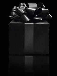 Black gift box - beautiful