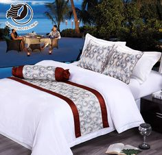 Simple And Comfortable Star Hotel King Size Bed Runner Comfy Bedroom, Bedroom Bed, Home Decor Bedroom, Bed Throws, Bed Pillows, Bed Pillow Arrangement, Bed Cover Design, Bed Scarf, Cheap Bed Sheets