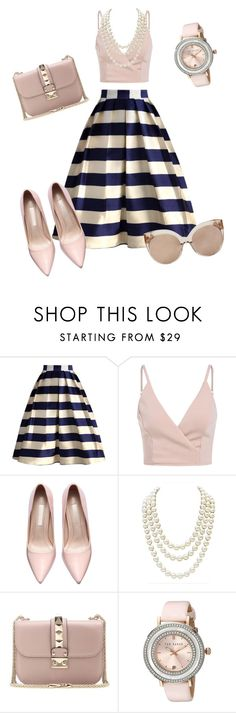 """""""Untitled #107"""" by catia-santos on Polyvore featuring Chicwish, Chanel, Valentino, Ted Baker and Linda Farrow"""