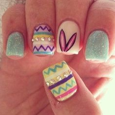 Super cute Easter Nails!!!!!!! Perfect for spring and Easter yay!!!!!!!!!!!!!!!!!!!!!!!!!!!!!!!!!!!!!!!