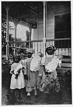 Kinderen met lepra op Bethesda, Suriname (1914)