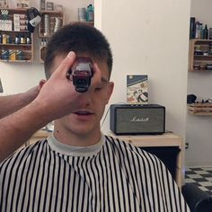 buzzcut barbershop long hair and lack of hair. willingly or forcefully and everything else that interests me Barber Shop Haircuts, Haircuts For Men, Bald Men Style, Haircut Styles, Men's Hair, Hairdos, Barbershop, Shaving, Character Art