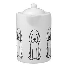 Shop Golden Retriever Dog Cartoon Teapot created by DogBreedCartoon. Clumber Spaniel, Cocker Spaniel Dog, Labrador Retriever Dog, Dogs Golden Retriever, Springer Spaniel, Spaniels, Harrier Dog, Bloodhound Dogs, Rhodesian Ridgeback
