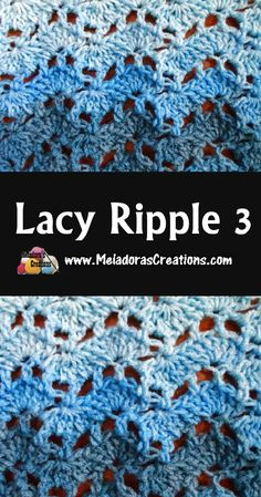 Crochet lace ripple stitch - a variation on a ripple crochet pattern with a more open, lacy look. Crochet Afghans, Crochet Stitches Free, Crochet Ripple, Crochet Geek, Tunisian Crochet, Afghan Crochet Patterns, Crochet Crafts, Crochet Projects, Free Crochet