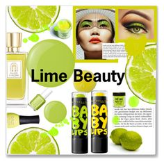"""Lime Beauty"" by maryjane95 ❤ liked on Polyvore featuring beauty, Lancôme, Maybelline, Essie, ORLY and Medusa's Makeup"