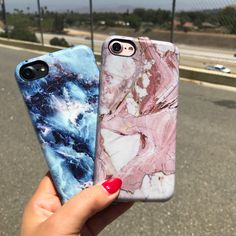 Road trip pitstop Geode & Rose Marble Case for iPhone 7 & iPhone 7 Plus from Elemental Cases