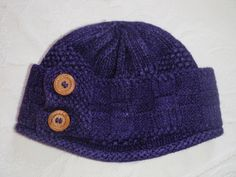 Ravelry: Project Gallery for Lavender Hat & Scarf pattern by J. L. Fleckenstein - This pattern costs $5 now but I printed it for free in 2006
