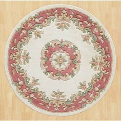 Hounslow Hand-Tufted Wool Beige Rug World Menagerie Rug Size: Round Circle Rug, Rug World, Gold Rug, China, Pink Rug, Red Rugs, Traditional Rugs, Beige Area Rugs, Rug Size
