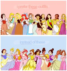 Soooooooo true! And I especially hate when the Disney store ruins the dresses by bedazzling them :P