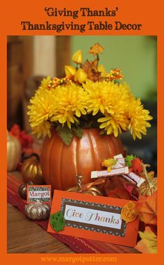 Giving Thanks DIY Thanksgiving Table Decor