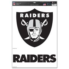 Oakland Raiders 11x17 2 Piece Logo Name Decal - Sportsfan
