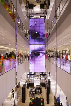 - Ambience and style, but not a business case. That's the way it should be! Great work, respect from Germany: www. Mall Design, Retail Design, Store Design, Digital Retail, Facade Lighting, Led Signs, Retail Interior, Chengdu, Digital Signage