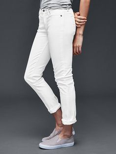 GAP Authentic 1969 best girlfriend jeans in white
