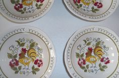 Up for sale are these Mikasa Heritage Set Of Four Coupe Cereal Bowls in great condition with no chips or cracks. They measure approx. 6 1/2W.  Shipping Excludes: Alaska/Hawaii, US Protectorates, APO/FPO, PO Box Shipping Provided to the United States Only