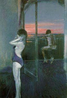 Alberto Sughi Il balcone sul mare 1986