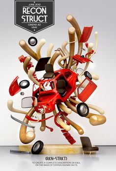 Reconstruct by Luca Viola, via Behance - 3D Typography Design Modelling