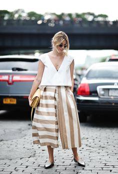 tan + white stripes