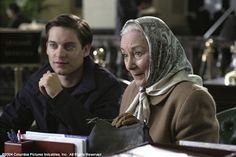 Still of Tobey Maguire and Rosemary Harris in Spider-Man 2 (2004)