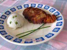 Kuracie rezne v jogurtovej marináde • Recept | svetvomne.sk Grains, Rice, Meat, Chicken, Food, Meal, Eten, Meals, Buffalo Chicken