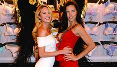 Adriana Lima and Candice Swanepoel Lingerie Victoria Secret, Adriana Lima Victoria Secret, Victoria Secret Fashion Show, Candice Swanepoel, Fall College Outfits, Victoria's Secret, African Models, Blond, Celebs