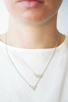 S3-com necklace silver by Naoka Ogawa