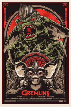 Mondo Debuts Two Awesome Posters for 'Gremlins' and Gremlins 2'