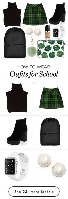 """School Day"" by susanna-trad on Polyvore featuring Anna Sui, Marc Jacobs, Rains, Dorothy Perkins, Casetify and Kate Spade"