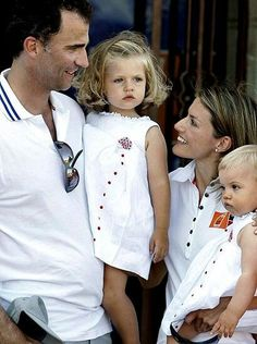 King Felipe and Queen Letizia and children.....Spain .