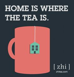 home is where the #tea is Repinned by www.moxtea.com